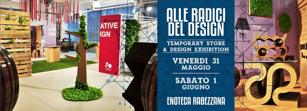 """Capellino Design presenta a Torino il Temporary Store """"Alle radici del Design"""" collezione di arredi in cartone e soluzioni innovative"""