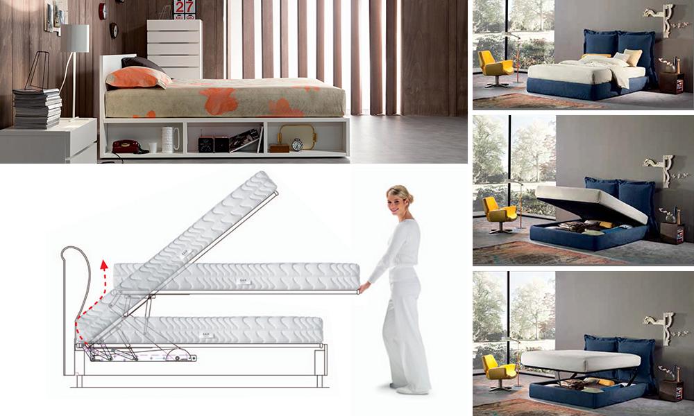 Il letto contenitore elegante salvaspazio e comodo - Mal di schiena a letto ...