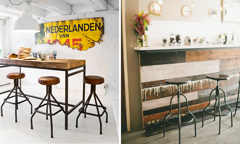 Arredare un angolo bar in stile industrial! finetodesign