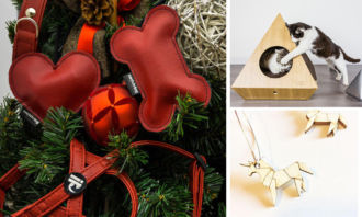 A Natale non arriviamo a 'zampe' vuote! Accessori per cani e gatti di design