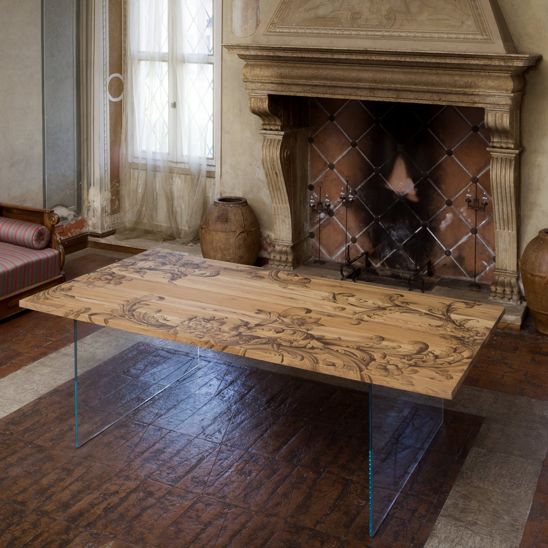 Affreschi su tavoli in legno, tra antico e moderno lo stile ...
