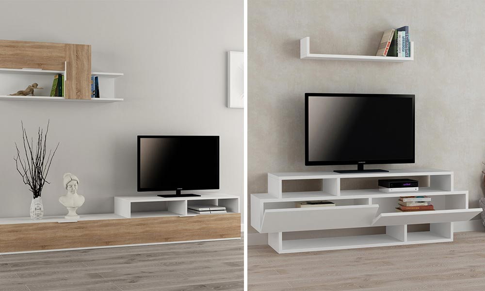 Mobile porta tv soluzioni moderne per tutte le necessit finetodesign - Mobiletti ad angolo moderni ...