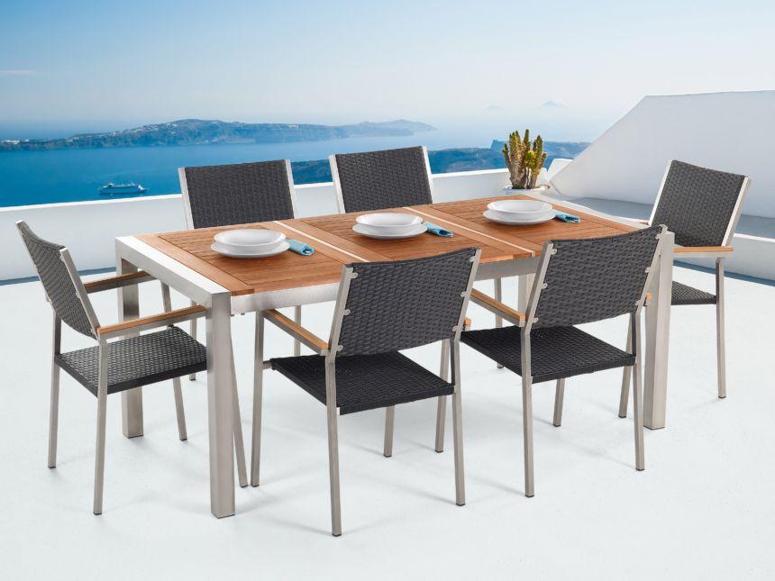 tavolo da pranzo per esterno in legno