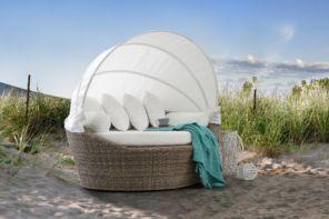 divano arredo giardino in rattan