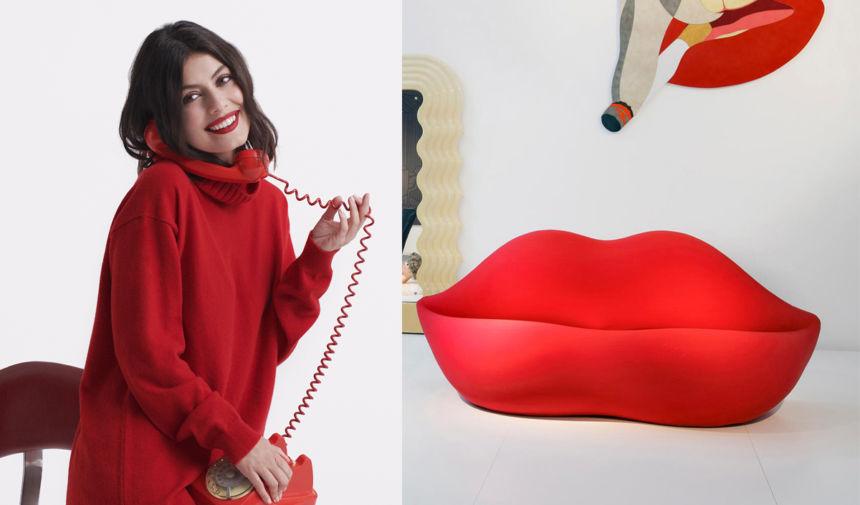 oggetti di design famosi divano bocca labbra