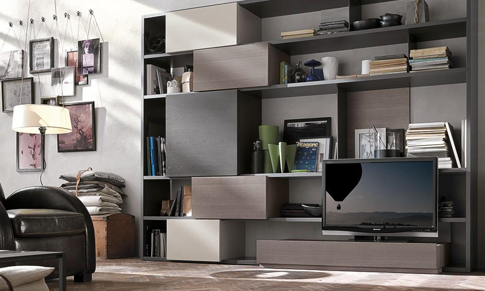 La zona living la libreria flat rivoluzioner il vostro for Mobile sala design