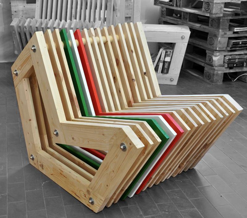 Ancora Fuorisalone 2013: Da un materiale di recupero nasce Layerchair, proposta dei giovani architetti di LAMAA.