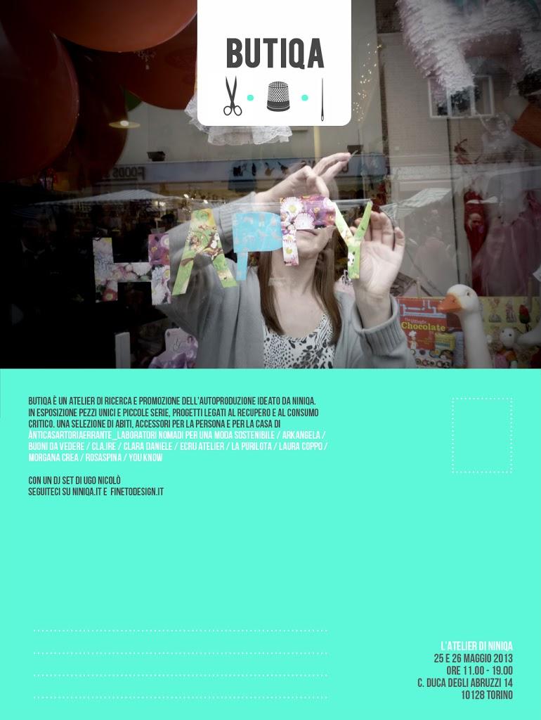 BUTIQA! Torino 25/26 maggio - Atelier di ricerca e promozione dell'autoproduzione