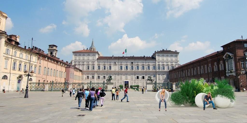 Turin_piazza_castello-fioriera-bubbles-Gianluca-Lanfredi