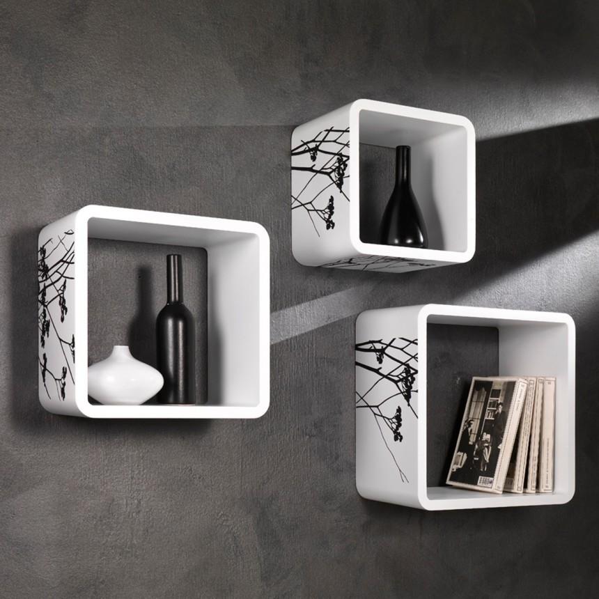 set-mensole-moderne-juniper-in-legno-laccato-bianco
