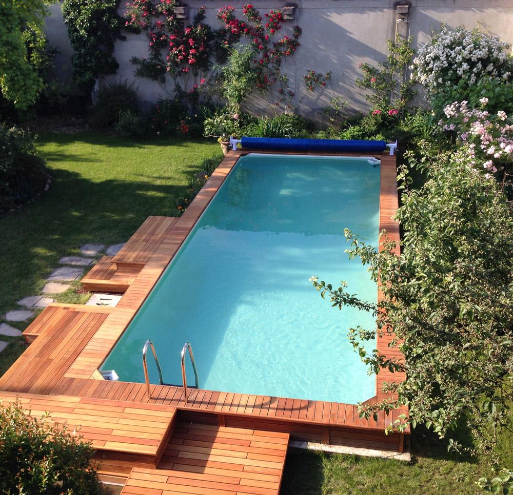 Piscine Da Esterno Rivestite In Legno piscina fuoriterra: made in italy e senza permessi edilizi