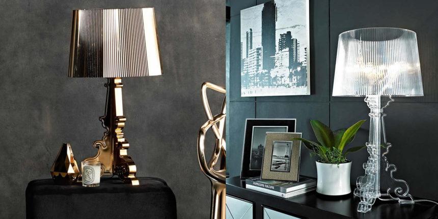 lampada da appoggio kartell design trasparente